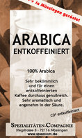Entcoffeinierter Columbia Arabica CO2 (DECAF) 500g